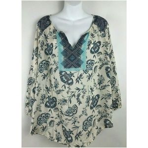 Beach Lunch Lounge Collection Smocked Floral Tops